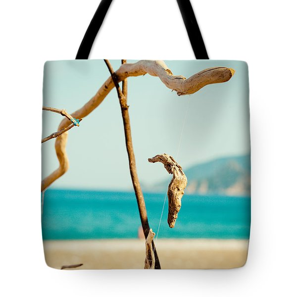 Nature Sculpture At Coast Seascape Artmif.lv Tote Bag