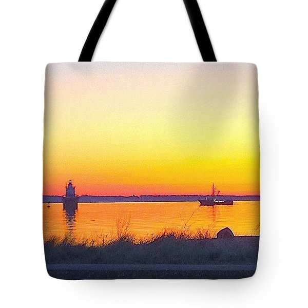 A Bright New England Morning  Tote Bag