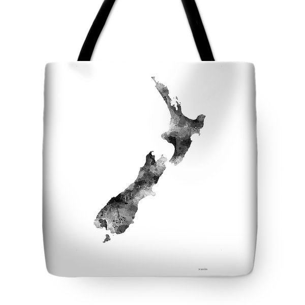 New Zealand Map Tote Bag