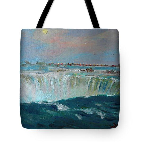 Niagara Falls Tote Bag by Ylli Haruni
