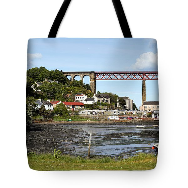 Tote Bag featuring the photograph North Queensferry by Jeremy Lavender Photography