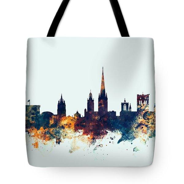 Norwich England Skyline Tote Bag