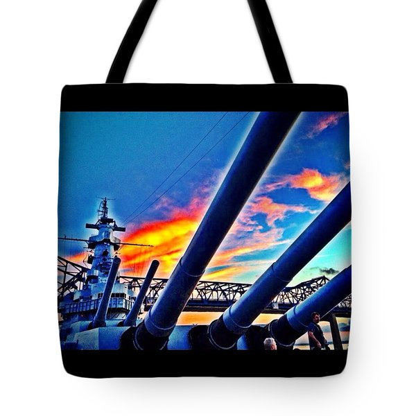 Battleship Tote Bag