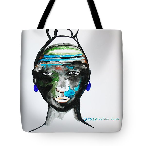 Nuer Bride - South Sudan Tote Bag by Gloria Ssali