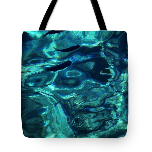 Tote Bag featuring the photograph Ocean Water Santorini Greece  by Colette V Hera  Guggenheim
