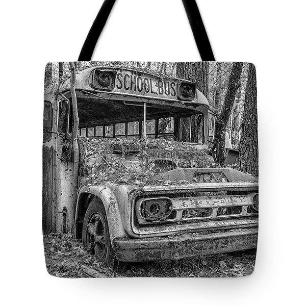 Old School Bus Tote Bag
