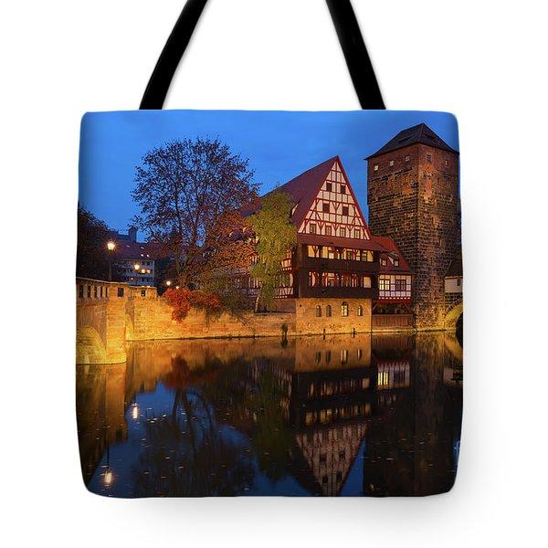 Nuremberg At Night Tote Bag