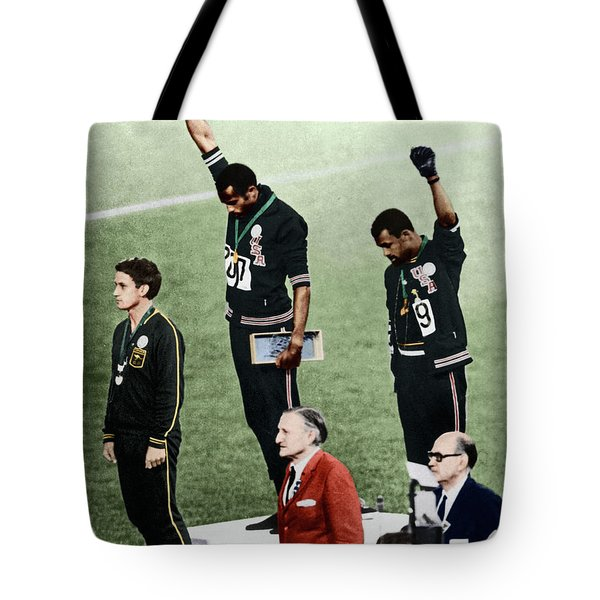 Tote Bag featuring the photograph Olympic Games, 1968 by Granger