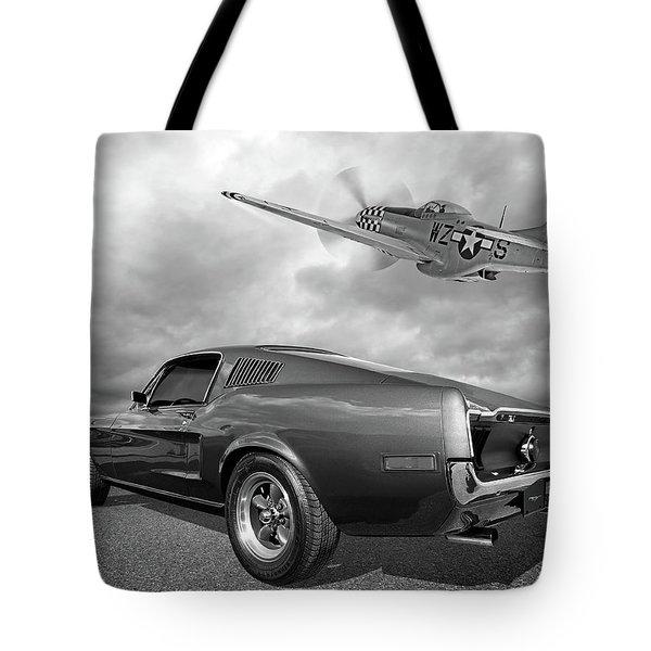 p51 With Bullitt Mustang Tote Bag