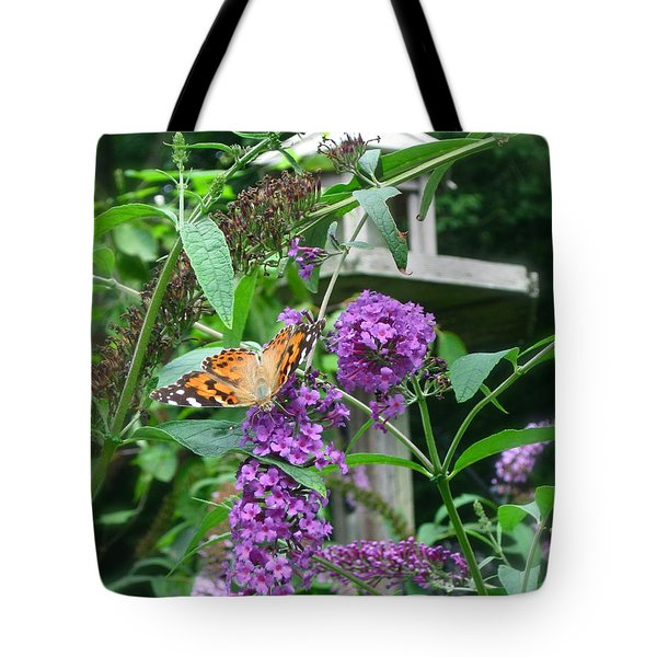 Painted Lady Butterfly Tote Bag by Nancy Patterson