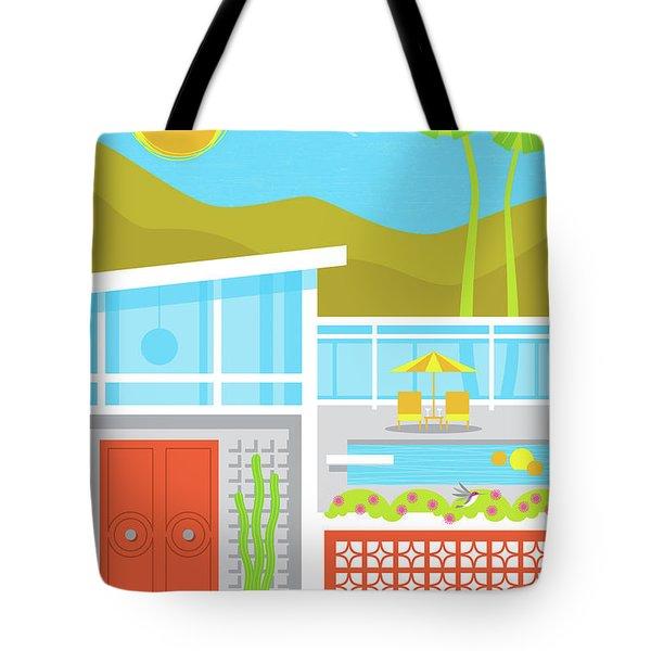Palm Springs Poster - Retro Travel  Tote Bag