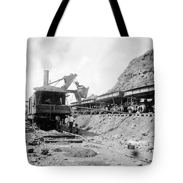 Panama Canal - Construction - C 1910 Tote Bag by International  Images
