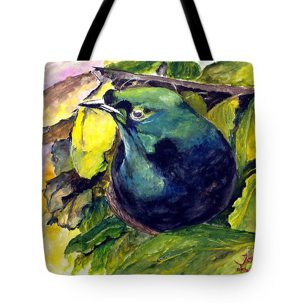 Tote Bag featuring the painting Paradise Bird by Jason Sentuf