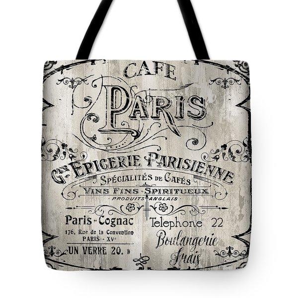 Paris Bistro  Tote Bag