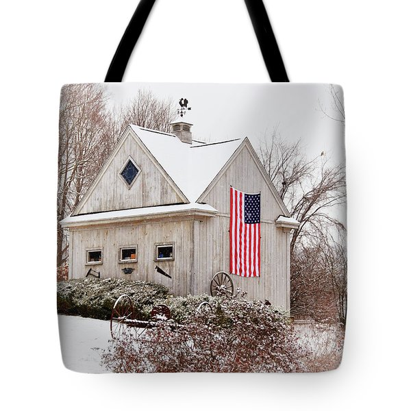 Patriotic Barn Tote Bag
