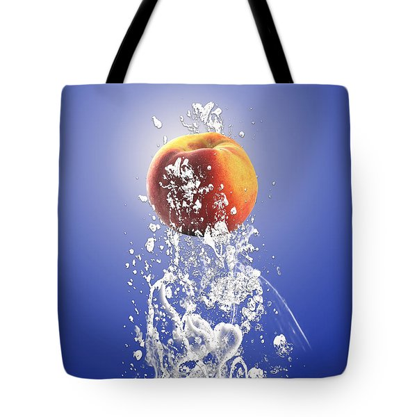 Peach Splash Tote Bag by Marvin Blaine