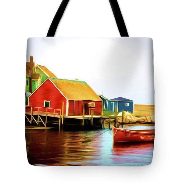 Peggy's Cove Tote Bag by Andre Faubert