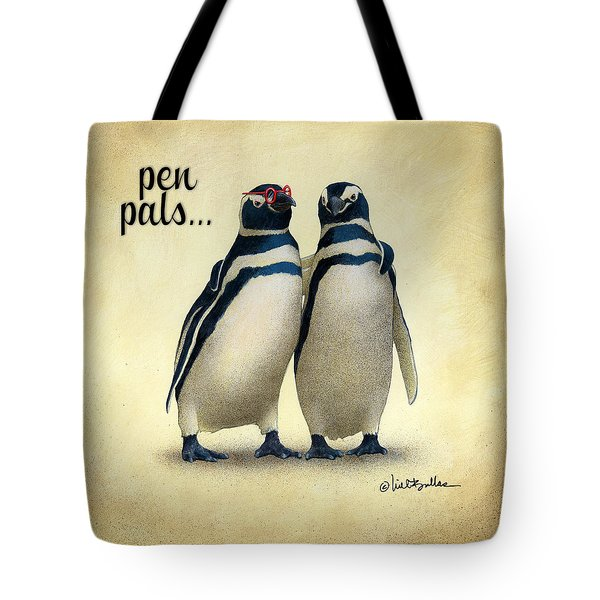 Tote Bag featuring the painting Pen Pals... by Will Bullas