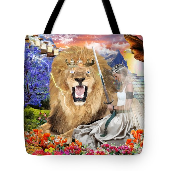 Tote Bag featuring the digital art Perfect Peace by Dolores Develde