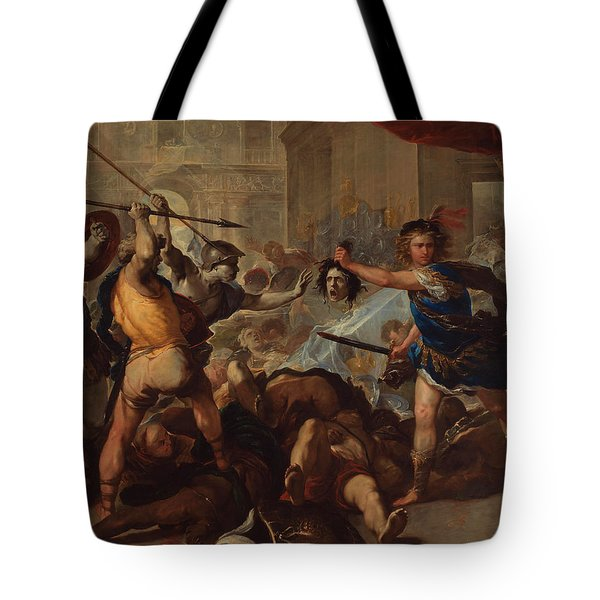 Perseus Turning Phineas And His Followers To Stone Tote Bag