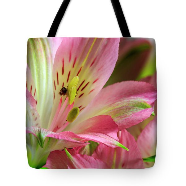 Tote Bag featuring the photograph Peruvian Lilies In Bloom by Richard J Thompson