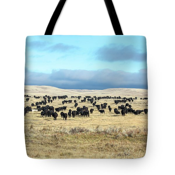 A Herd Gathers Tote Bag