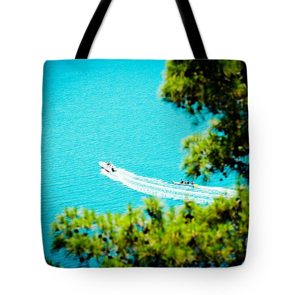Pine Forest Over Sea Seascape Artmif.lv Tote Bag