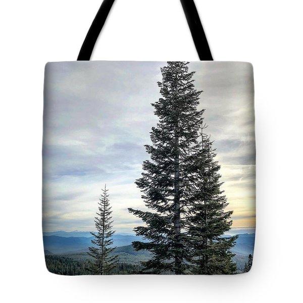 2 Pine Trees Tote Bag