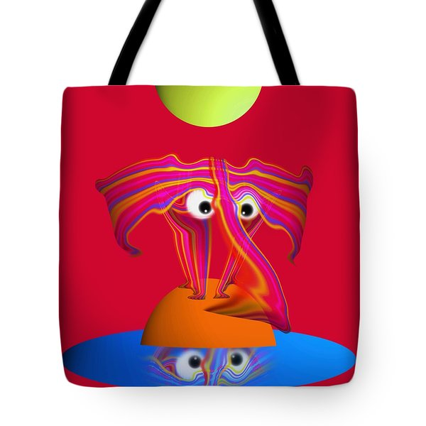 Pink Elephant Tote Bag by Charles Stuart