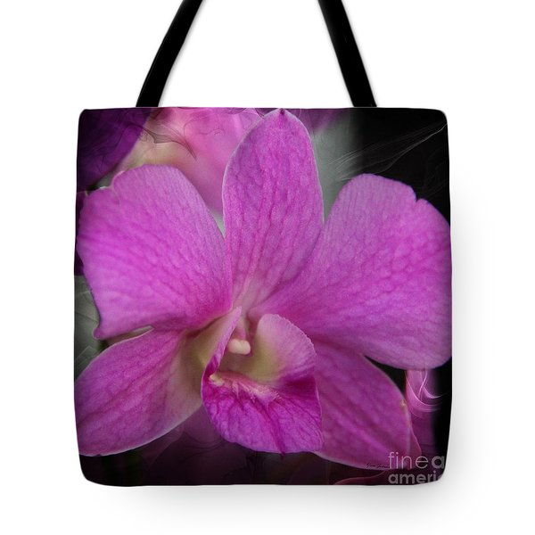 Tote Bag featuring the photograph Pink Orchid by Yumi Johnson