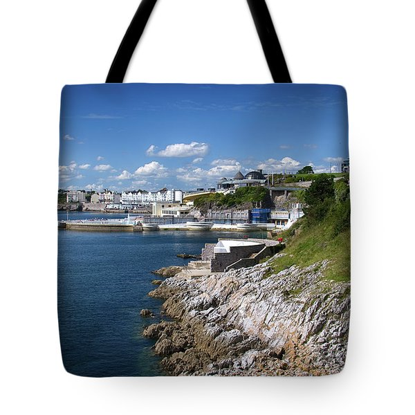 Plymouth Foreshore Tote Bag by Chris Day