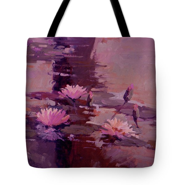 Pond Blossoms - Water Lilies Tote Bag