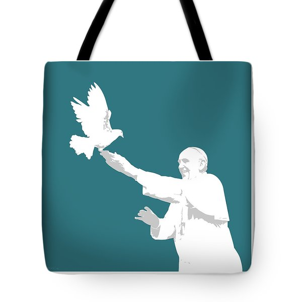 Pope Francis Tote Bag by Greg Joens