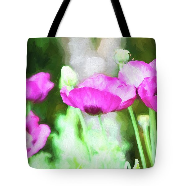 Tote Bag featuring the painting Poppies by Bonnie Bruno