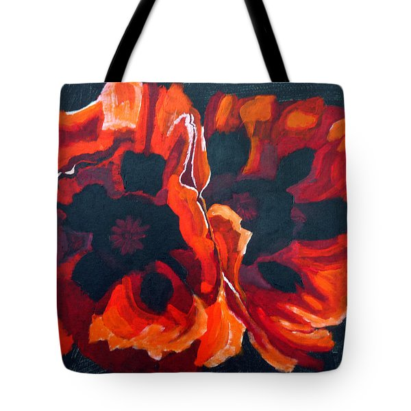 2 Poppies Tote Bag