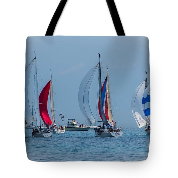 Port Huron To Mackinac Race 2015 Tote Bag