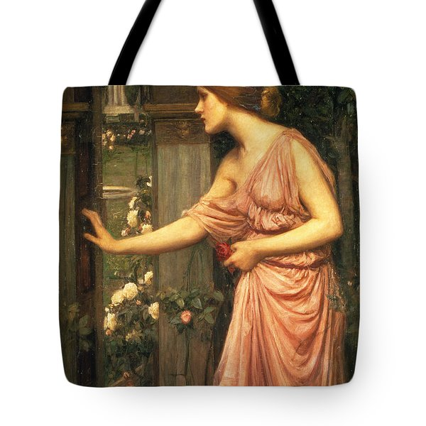Psyche Entering Cupid's Garden Tote Bag
