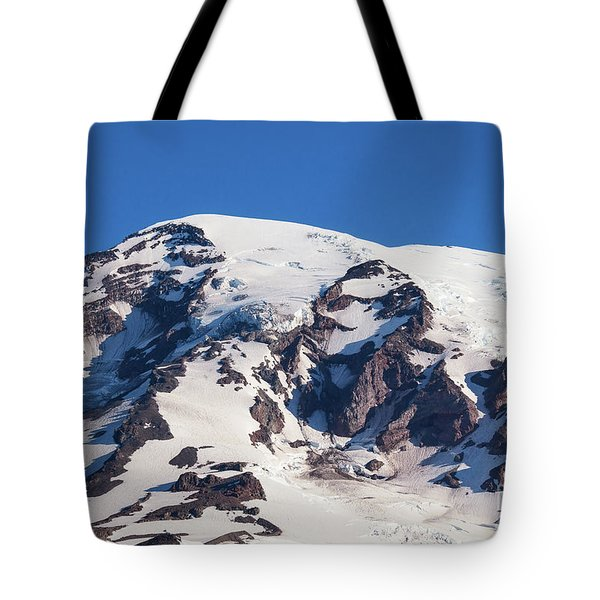Tote Bag featuring the photograph Rainier Summit by Sharon Seaward