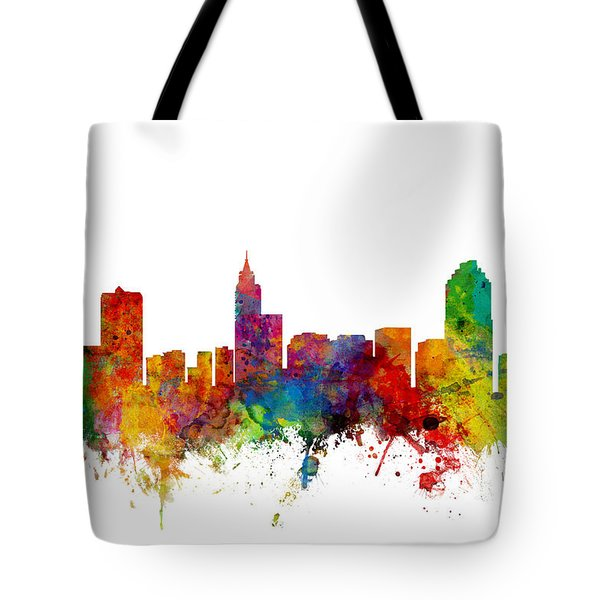 Raleigh North Carolina Skyline Tote Bag