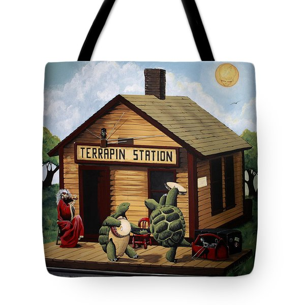 Recreation Of Terrapin Station Album Cover By The Grateful Dead Tote Bag