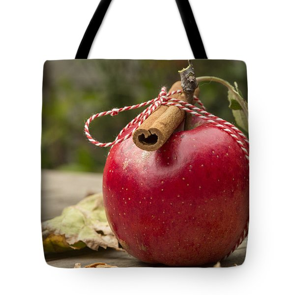 Red Apple With Cinnamon Tote Bag