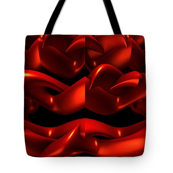 Tote Bag featuring the digital art Red by Lyle Hatch