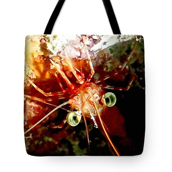 Red Night Shrimp Tote Bag