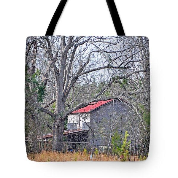 Red Roof Tote Bag by Linda Brown