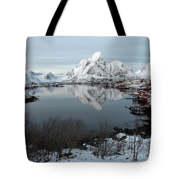 Tote Bag featuring the photograph Reine, Lofoten 4 by Dubi Roman
