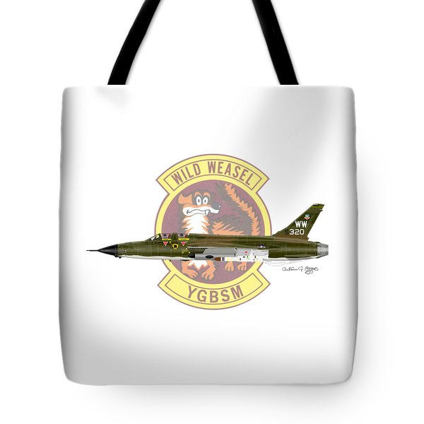 Republic F-105g Thunderchief 561tfs Tote Bag