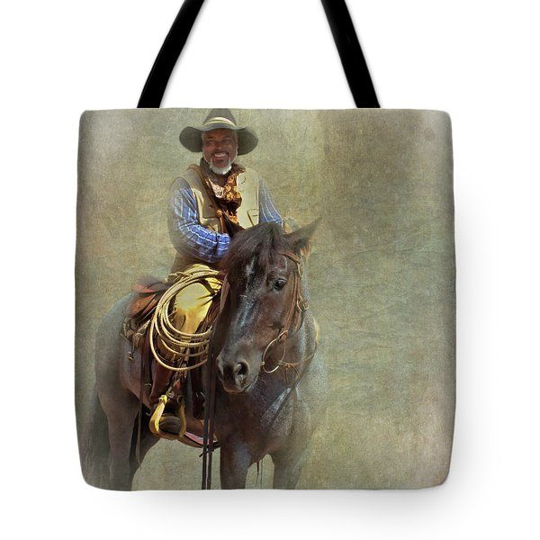 Tote Bag featuring the photograph Ride Em Cowboy by David and Carol Kelly