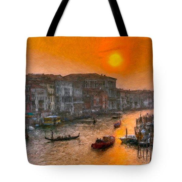 Tote Bag featuring the photograph Riva Del Ferro. Venezia by Juan Carlos Ferro Duque
