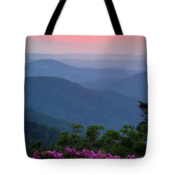 Roan Mountain Sunset Tote Bag