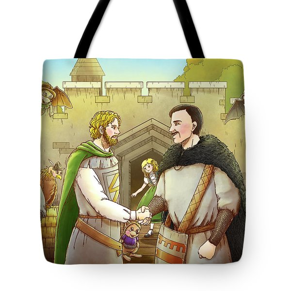 Robin Hood And The Captain Of The Guard Tote Bag